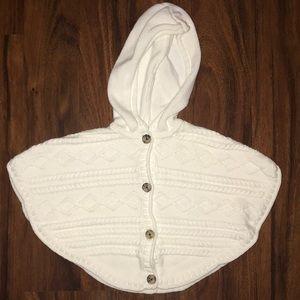 Baby girl cape sweater